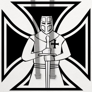 Iron Cross with Templar Knight - Contrast Hoodie