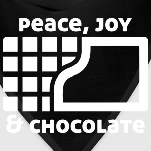 Peace, joy & chocolate (dark) Bags & backpacks - Bandana