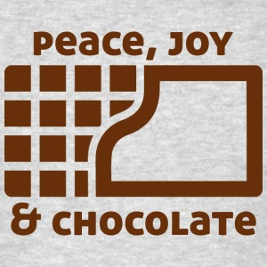 Peace, joy & chocolate Sweatshirts - Men's T-Shirt