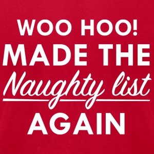 Naughty List - Men's T-Shirt by American Apparel
