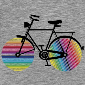 Bicycle with rainbow wheels Hoodies - Men's Premium T-Shirt