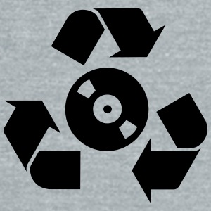 Recycle vinyl Sportswear - Unisex Tri-Blend T-Shirt by American Apparel