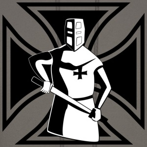 Iron Cross with Templar knight - Men's Hoodie
