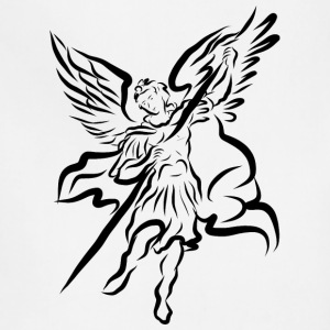 Archangel Michael Drawing by Adam Tinkoff T-Shirts - Adjustable Apron