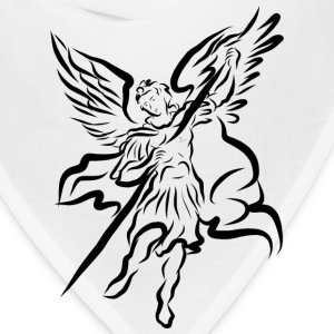 Archangel Michael Drawing by Adam Tinkoff T-Shirts - Bandana