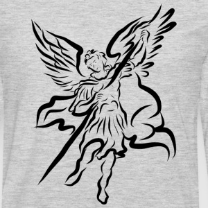 Archangel Michael Drawing by Adam Tinkoff T-Shirts - Men's Premium Long Sleeve T-Shirt