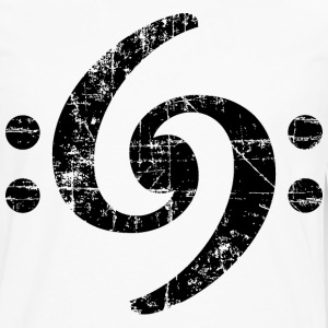 Bass Clef 69 Vintage Black T-Shirts - Men's Premium Long Sleeve T-Shirt