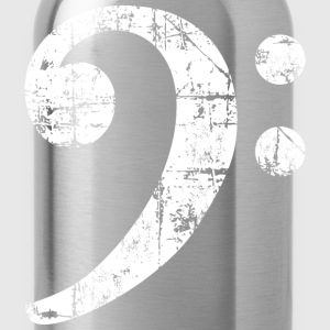 Bass Clef (Vintage/White)  Kids' Shirts - Water Bottle
