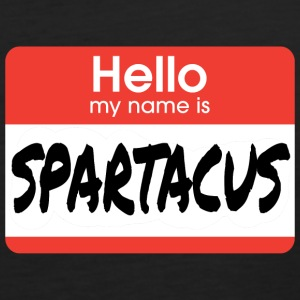 Hello My Name Is Spartacus T-Shirts - Men's Premium Tank