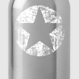 Grunge Star. T-Shirts - Water Bottle