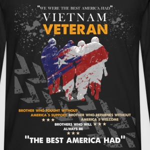 Vietnam veteran- Brother who fought without Americ - Men's Premium Long Sleeve T-Shirt