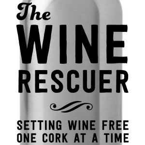 The Wine rescuer. Setting wine free one cork T-Shirts - Water Bottle