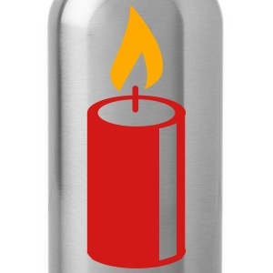 A burning candle T-Shirts - Water Bottle