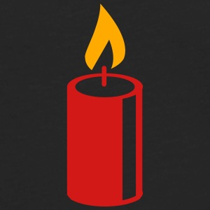 A burning candle T-Shirts - Men's Premium Long Sleeve T-Shirt