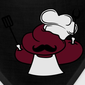 Chef cook grill master cooks apron mustache cook e T-Shirts - Bandana