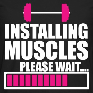 INSTALLING MUSCLES T-Shirts - Men's Premium Long Sleeve T-Shirt
