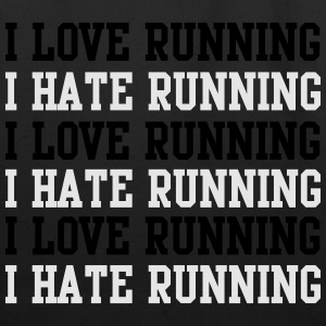 I love running I hate running T-Shirts - Eco-Friendly Cotton Tote