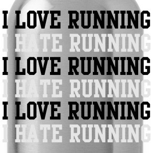 I love running I hate running T-Shirts - Water Bottle