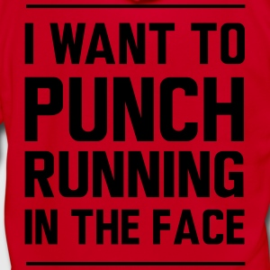 I want to punch running in the face T-Shirts - Unisex Fleece Zip Hoodie by American Apparel
