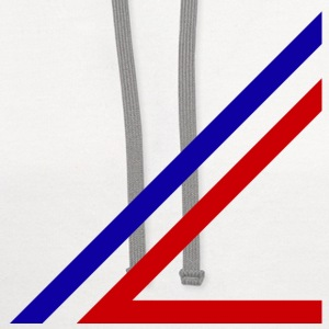 red and blue lines - Contrast Hoodie