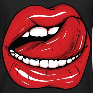 Sexy red lips and tongue - Men's Premium Long Sleeve T-Shirt