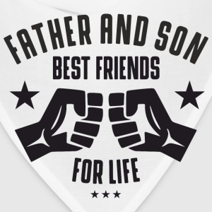 Father and Son best friends for life  Baby & Toddler Shirts - Bandana