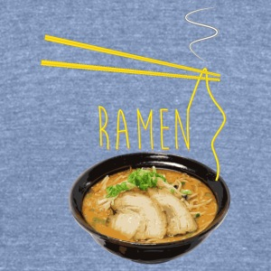 Ramen - Unisex Tri-Blend T-Shirt by American Apparel