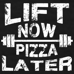 Lift Now, Pizza Later Mugs & Drinkware - Men's T-Shirt
