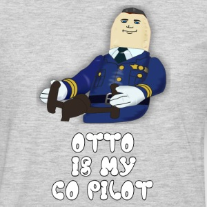 Otto Is My Co Pilot - Airplane T-Shirts - Men's Premium Long Sleeve T-Shirt