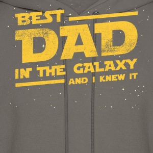 Best Dad In The Galaxy And I Knew It T-shirt T-Shirts - Men's Hoodie