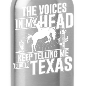 To go Texas Tshirt - Water Bottle