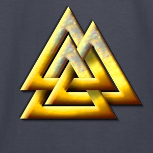 Norse Valknut - Gold - Kids' Long Sleeve T-Shirt