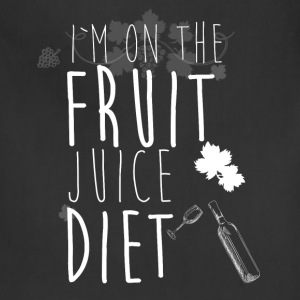 I'm on the fruit juice diet - Adjustable Apron