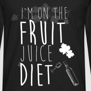I'm on the fruit juice diet - Men's Premium Long Sleeve T-Shirt