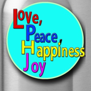 Love, Peace, Happiness, Joy - Water Bottle