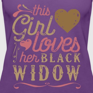 This Girl Loves Her Black Widow Spider T-Shirts - Women's Premium Tank Top
