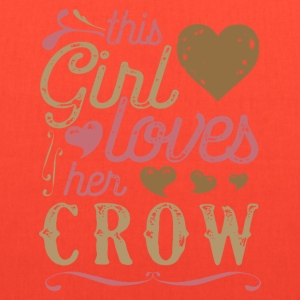 This Girl Loves Her Crow T-Shirts - Tote Bag