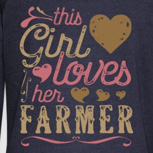 This Girl Loves Her Farmer Hoodies - Women's Wideneck Sweatshirt