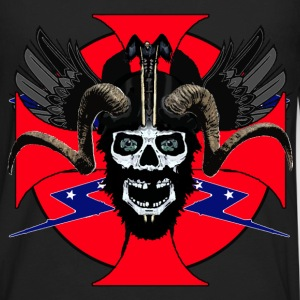 Viking rebel skull - Men's Premium Long Sleeve T-Shirt