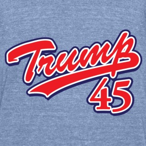 Donald Trump 45 - Unisex Tri-Blend T-Shirt by American Apparel