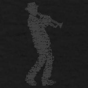 trumpet player made of notes Mugs & Drinkware - Men's T-Shirt