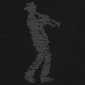 trumpet player made of notes Mugs & Drinkware - Men's Premium T-Shirt
