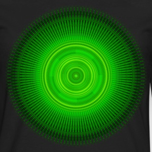 Green Star Mandala T-Shirts - Men's Premium Long Sleeve T-Shirt