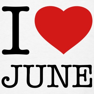 I LOVE JUNE - Men's T-Shirt