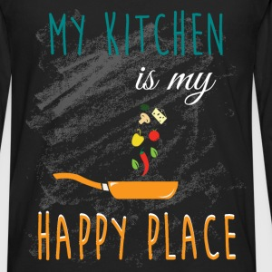 My kitchen is my  happy place - Men's Premium Long Sleeve T-Shirt