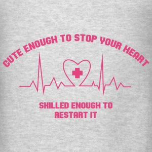 Cute Enough to stop your heart Bags & backpacks - Men's T-Shirt