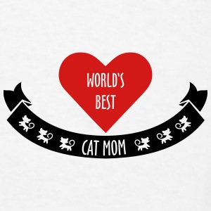 world's best cat mom Mugs & Drinkware - Men's T-Shirt