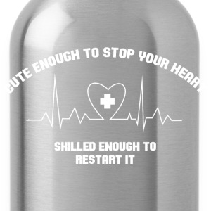 Cute Enough to stop your heart Tanks - Water Bottle