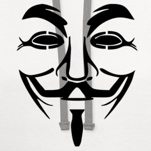 Anonymous - Guy Fawkes Mask T-Shirts - Contrast Hoodie