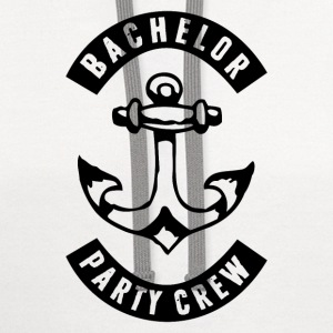 Bachelor Party Crew Patch Sportswear - Contrast Hoodie